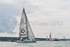 "GBR 9536R ""Thunder 2""  at start of racing AAM Cowes Week 2014"
