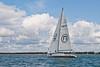 """UKSA yacht GBR 8652R """"Albatross 2""""  at start of racing AAM Cowes Week 2014"""