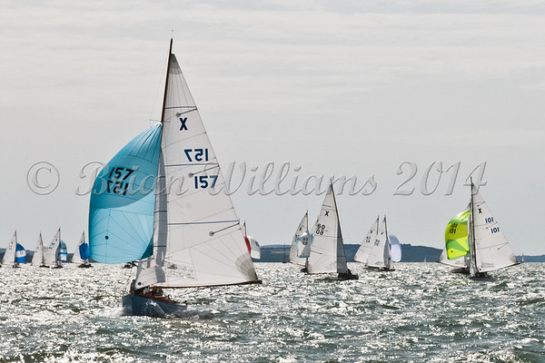 "X One Design racing X157 ""Sox"" at AAM Cowes Week 2014"