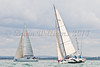"NED 8508 ""Tsunami"" at start of racing AAM Cowes Week 2014"