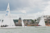 Dragon Class, fleet at the start of racing AAM Cowes Week 2014
