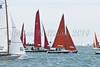 """Bembridge Redwing 14 """"Redstart II"""" and Sqib 596 """"Rhapsody in Blue"""" racing at AAM Cowes Week 2014"""