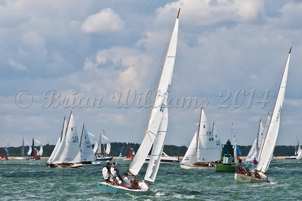 """X one design X45 """"Jewel"""" racing at AAM Cowes Week 2014"""
