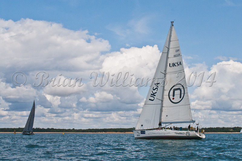 "UKSA yacht GBR 8652R ""Albatross 2""  at start of racing AAM Cowes Week 2014"