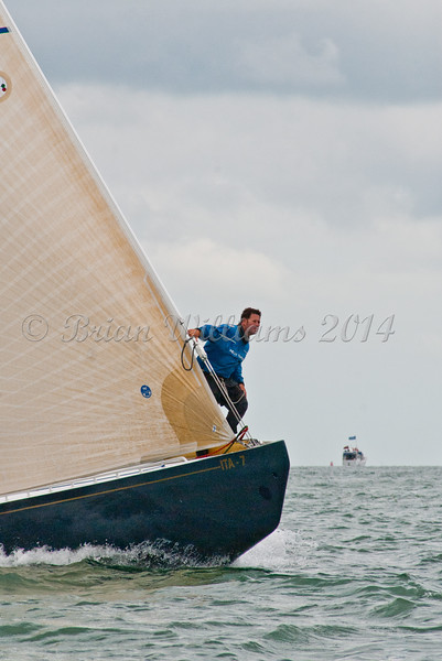 """ITA 7 """"Italia"""" racing at AAM Cowes Week 2014"""