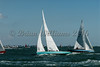 Solent Sunbeam; V13 BRYONY & V36 MELODY sailing at Cowes Week 2016 day 1