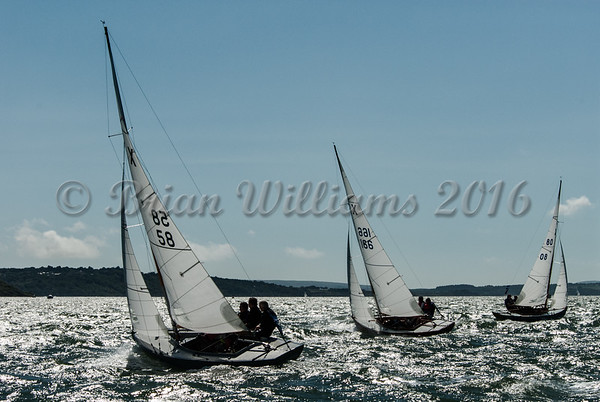 X One Design; XOD's at the Royal Squadron start line.