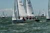 J/70 class; yachts at the RYS, Royal Yacht Squadron start line Cowes Week 2016