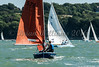Squib ; 414 BLUE SKIES sailing at Cowes Week 2016 day 1