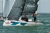 """Sportsboat; A Farr 280 GER7333 """"4 Sale""""  on the  start line day one of Cowes Week 2016."""