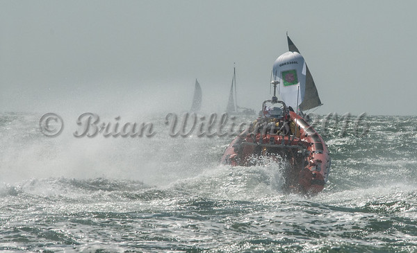 Cowes inshore lifeboat, Sheena Louise out and about, Cowes Week 2016, day 2