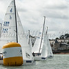 J/70 start at the rys start line, GBR747 J CURVE, GBR746 ELIZABETH, Cowes Week 2016, day 3