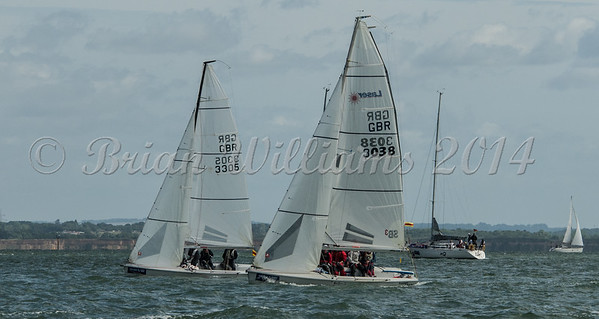 SB 20; GBR3038 RADLEY COLLAGE, GBR3305 TRIO, Cowes Week 2016, day 3