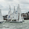 J/70 start at the rys start line, GBR253 JUKE BOX, GBR746 ELIZABETH, Cowes Week 2016, day 3