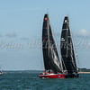 Fast 40; IRL708 ANTIX, GBR1542R HAREQUIN ON 42 SOUTH, Cowes Week 2016, day 4
