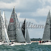 Irc class 2; Fleet at start line, Cowes Week 2016, day 5