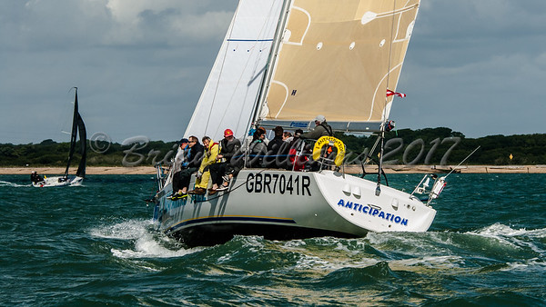 IRC 4 ANTICIPATION racing at Lendy Cowes Week 2017