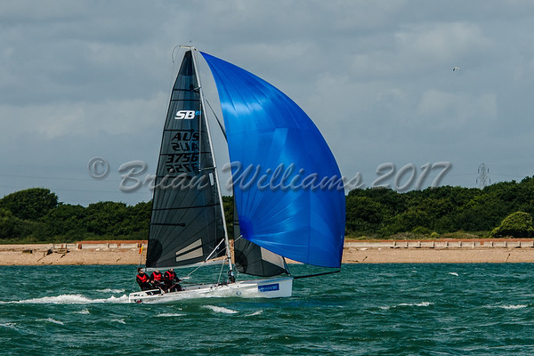 SB 20 PORCO ROSSO racing at Lendy Cowes Week 2017