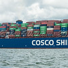 Cargo ship Cosco Shipping CSCL URANUS, Lendy Cowes Week 2017