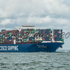 Cargo ship Cosco Shipping CSCL URANUS, Lendy Cowes Week 2017