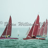 Bembridge Redwing racing in squall at Lendy Cowes Week 2017