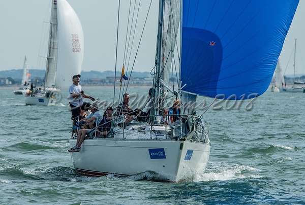 IRC 5 racing at Lendy Cowes Week 2018 Day 1