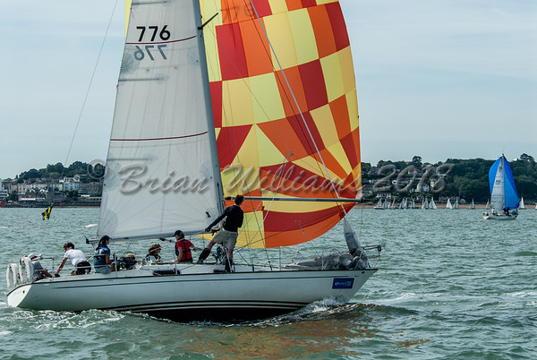 Contessa 32 racing at Lendy Cowes Week 2018 Day 1