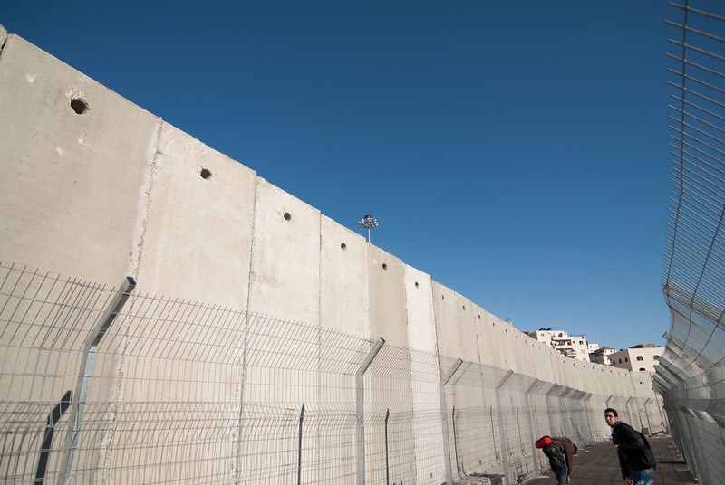 The separation barrier in Jerusalem  在耶路撒冷的隔離牆