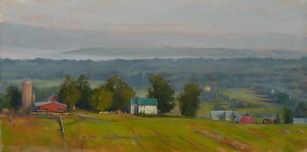 "Lake Champlain Sunrise 15""x30"""