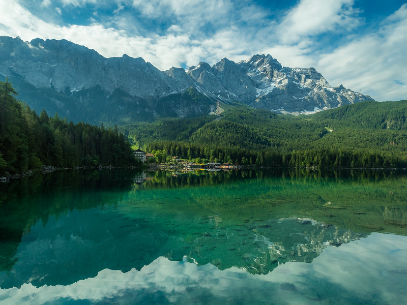 Morning Reflections on Eibsee, Bavaria, Germany