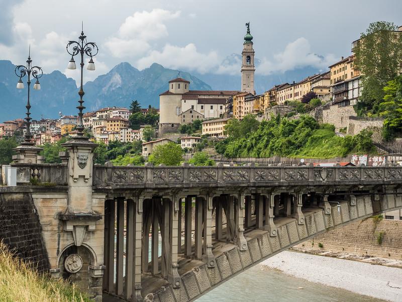 Old Bridge and the City, Belluno, Italy