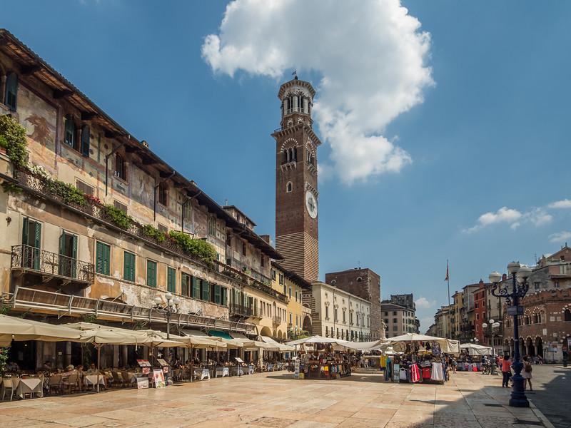 On the Piazza della Erbe, Verona, Italy
