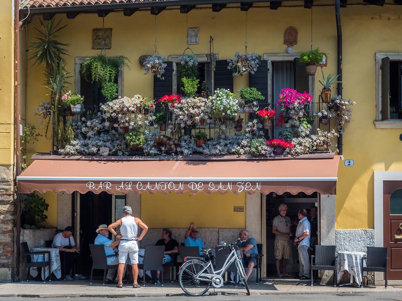 Noontime Café Scene, Verona, Italy