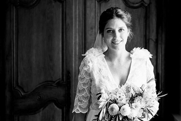 Portrait de la belle mariée