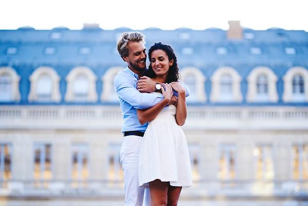 Les fiancés qui vont se marié au, Jardin du Palais Royal