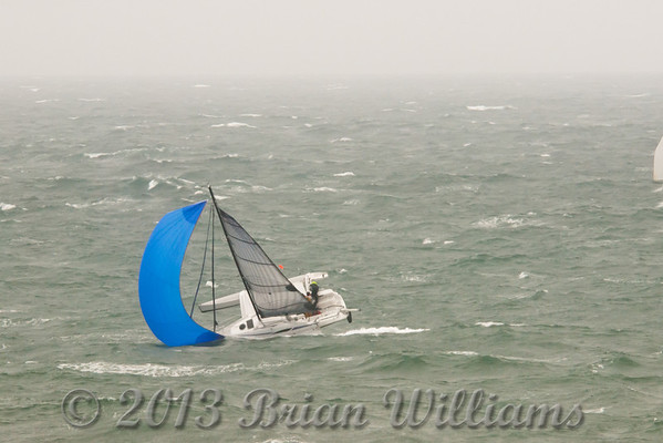 Images from the 2011 Round the Island Race. 1500 Yachts started but not all finished. Luckily the crew of this trimaran were rescued safely