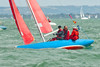 """Cowes week 2013, day 2,  Bembridge sailing club """"Redwings""""   competing on the second day of Cowes week 2013."""