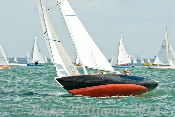 Seaview Mermaids at the start of the race on day 8 cowes week 2013