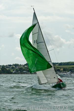 """Seaview mermaid u5 """"Jade"""" skippered by Helen Birchenough taking part in racing on day 8 Cowes week 2013"""