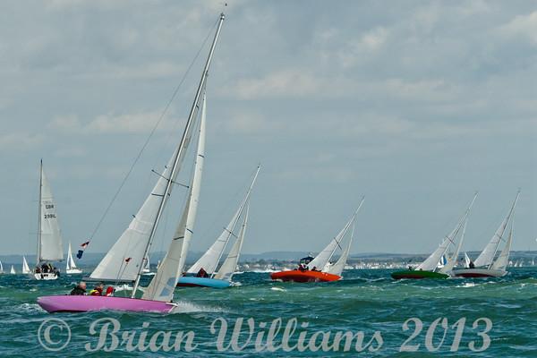 Seaview mermaids  racing a Cowes on day 8 Cowes week 2013