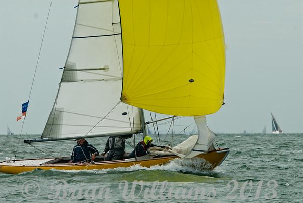 Seaview mermaid taking part in racing on day 8 Cowes week 2013
