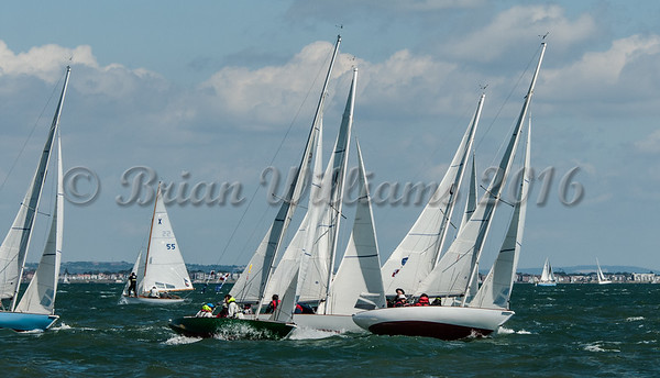 Seaview Mermaids; at the Royal Sqadron start line Cowes Week 2016 day 1