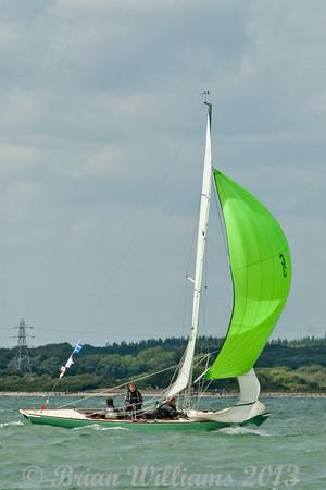 """Seaview mermaid u3 """"Halluf"""" skippered by Tom Holbrook taking part in racing on day 8 Cowes week 2013"""
