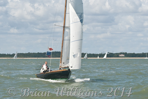 """Victory"" class ""One Design"" racing at Cowes Week 2014"