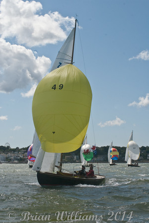 """""""Victory"""" class """"One Design"""" racing at Cowes Week 2014"""