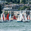 Squibs & XOD's at RYS start line Lendy Cowes Week 2018 Day 1