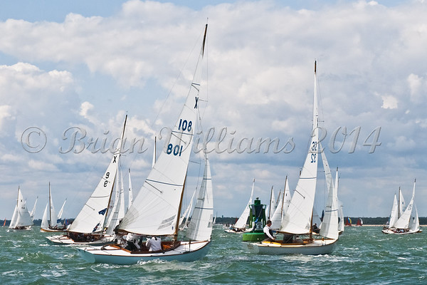 """X one design fleet and X108 """"Leading Wind"""" racing at AAM Cowes Week 2014"""