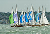 """cowes week 2013,  XOD one design x178 """"Beatrix"""" , x73 """"Zephyr"""" taking part in racing on day 8."""
