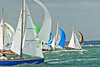 Cowes week 2013,  XOD one design fleet racing for the mark on day 8.