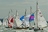 XOD one design x87, x182, x32,  taking part in racing on day 8 Cowes week 2013